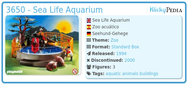Playmobil 3650 - Sea Life Aquarium