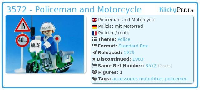 Playmobil 3572 - Policeman / motorbike