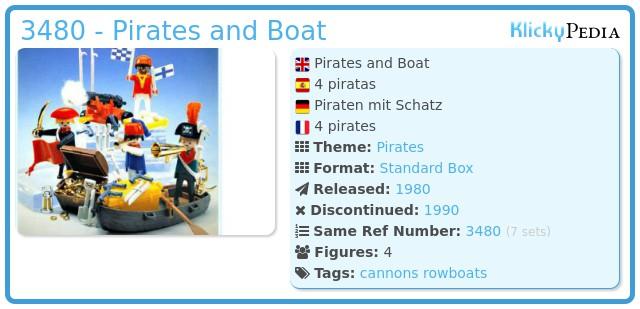 Playmobil 3480 - 4 pirates