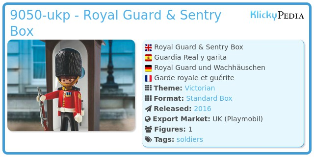 Playmobil 9050-ukp - Royal Guard & Sentry Box