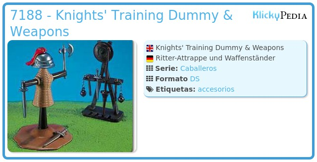 Playmobil 7188 - Knights' Training Dummy & Weapons