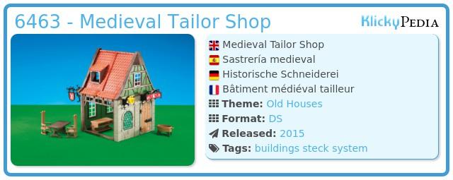 Playmobil 6463 - Medieval Tailor Shop