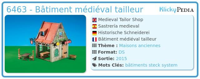 Playmobil 6463 - Bâtiment médiéval tailleur