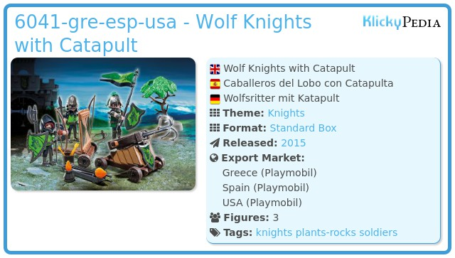 Playmobil 6041-esp-gre-usa - Wolf Knights with Catapult