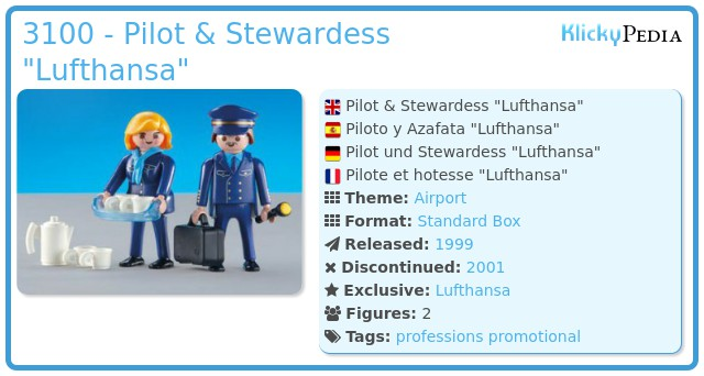 Playmobil 3100 - Pilot & Stewardess