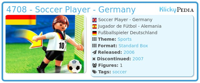 Playmobil 4708 - Soccer Player - Germany