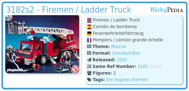 Playmobil 3182s2 - Firemen / Ladder Truck