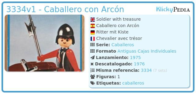 Playmobil 3334v1 - Caballero con Arcón