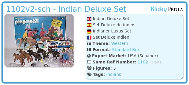 Playmobil 1102v2-sch - Indian Deluxe Set