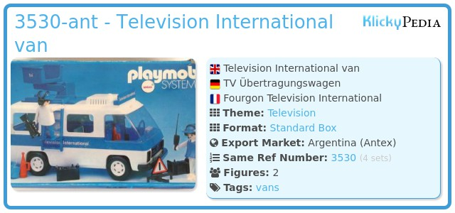 Playmobil 3530-ant - Television International van