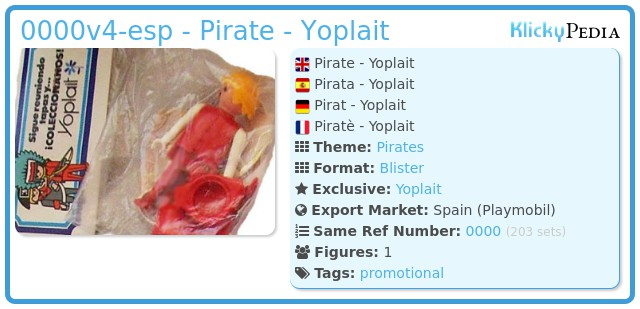 Playmobil 0000v4-esp - Pirate - Yoplait