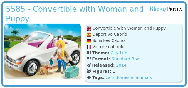 Playmobil set 5585 schickes cabrio klickypedia for Wohnzimmer 5584