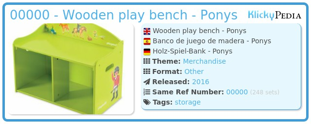 Playmobil 00000 - Wooden play bench - Ponys