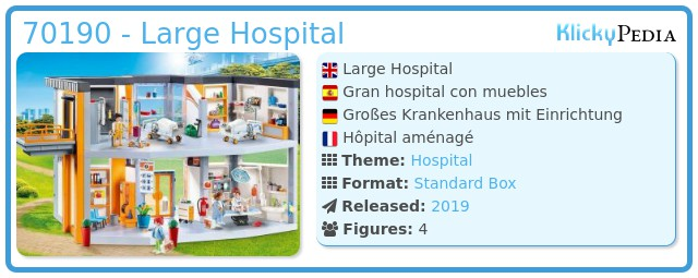 Playmobil 70190 - Big hospital with furniture