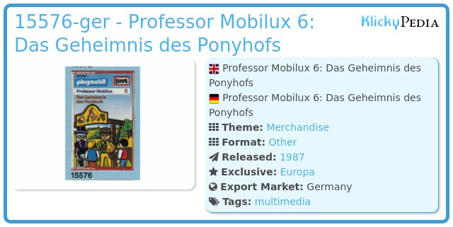 Playmobil 15576-ger - Professor Mobilux 6: Das Geheimnis des Ponyhofs