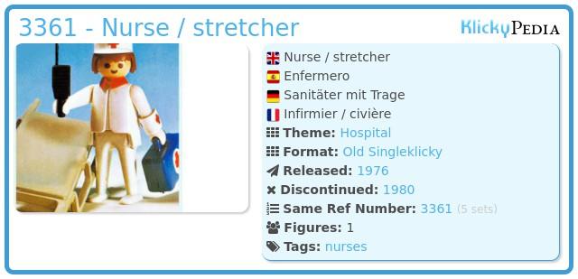 Playmobil 3361 - Nurse / stretcher