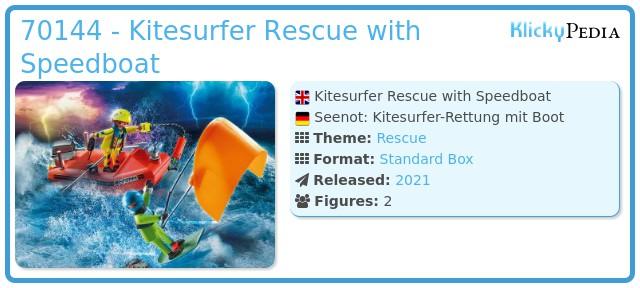 Playmobil 70144 - Kitesurfer Rescue with Speedboat