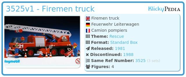 Playmobil 3525v1 - Firemen truck