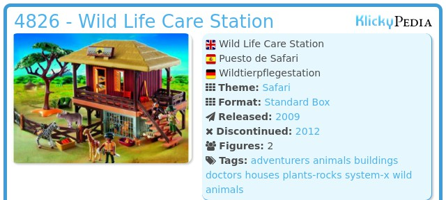 Playmobil 4826 - Wild Life Care Station