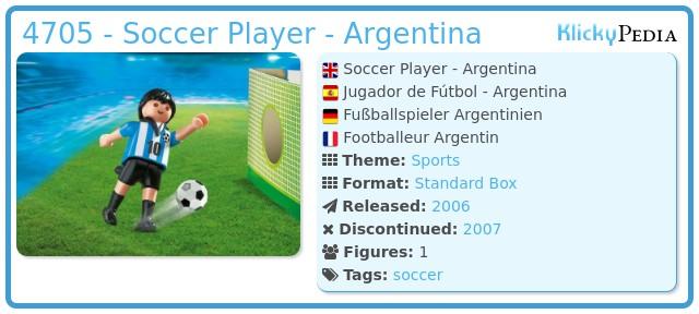 Playmobil 4705 - Soccer Player - Argentina