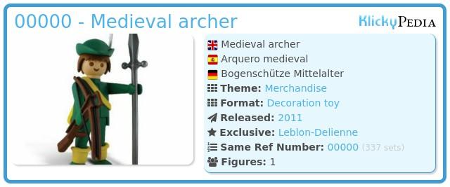 Playmobil 00000 - Medieval archer