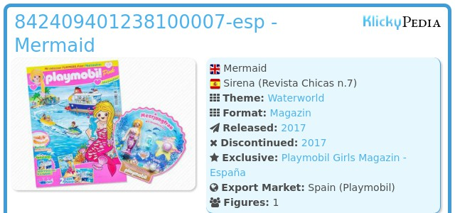 Playmobil 842409401238100007-esp - Mermaid