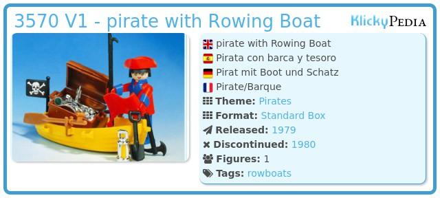 Playmobil 3570 V1 - pirate / rowboat