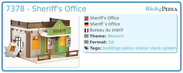 Playmobil 7378 - Sheriff's Office