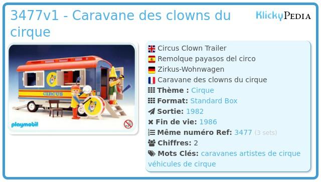 Playmobil 3477v1 - Caravane des clowns du cirque