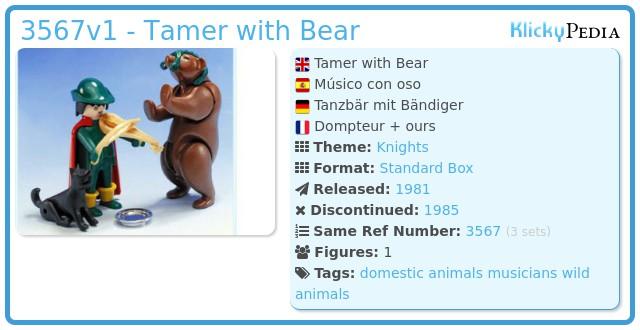 Playmobil 3567v1 - Tamer with Bear