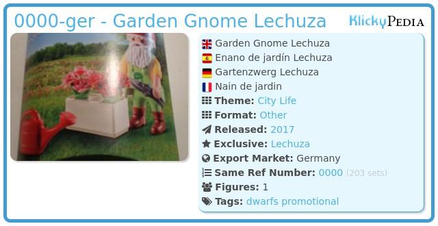 Playmobil 0000-ger - Garden Gnome Lechuza