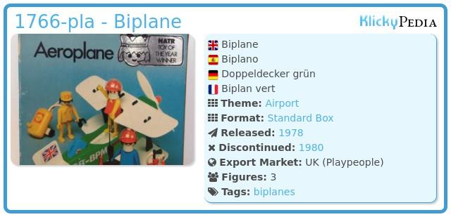 Playmobil 1766-pla - Biplane