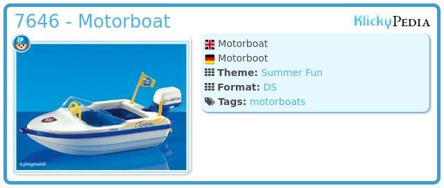 Playmobil 7646 - Motorboat