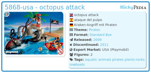 Playmobil 5868-usa - octopus attack