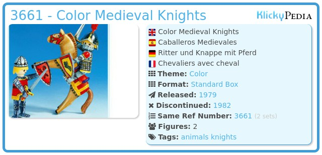 Playmobil 3661 - Color Medieval Knights