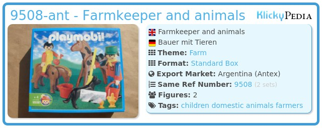 Playmobil 9508-ant - Farmkeeper and animals