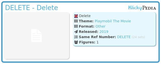 Playmobil 70069v10 - Delete