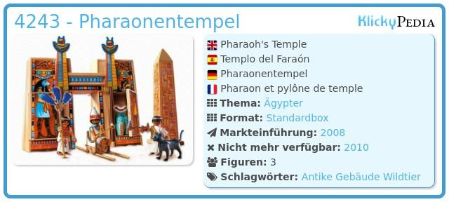 Playmobil 4243 - Pharaonentempel