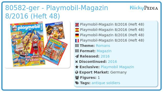 Playmobil 80582-ger - PLAYMOBIL-Magazin 8/2016 (Heft 49)