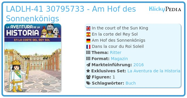 Playmobil LADLH-041 30795733 - Im Hof des Sonnenkönigs