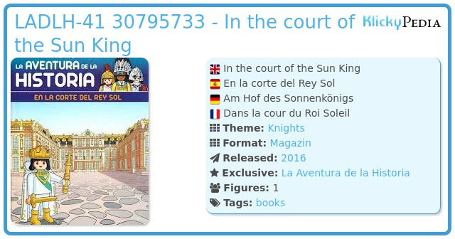 Playmobil LADLH-041 30795733 - In the court of the Sun King