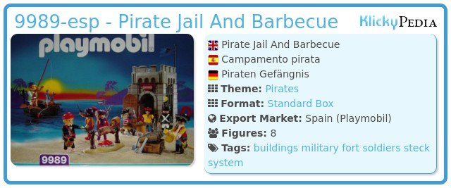 Playmobil 9989-esp - Pirate Jail And Barbecue