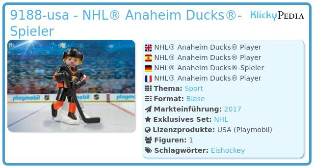 Playmobil 9188-usa - NHL® Anaheim Ducks® Player