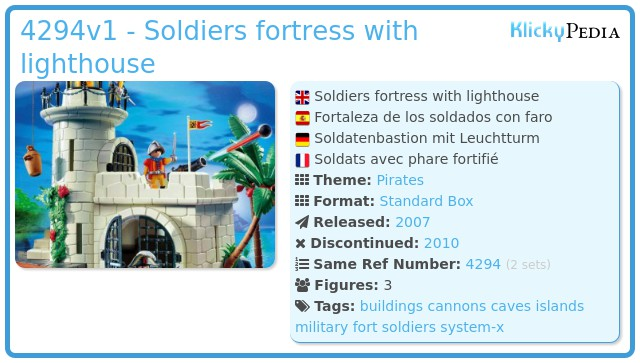 Playmobil 4294v1 - Soldiers fortress with lighthouse