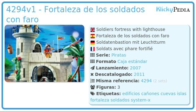 Playmobil 4294v1 - Fortaleza de los soldados con faro