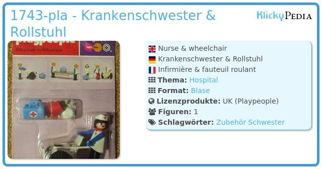 Playmobil 1743-pla - Nurse & wheelchair