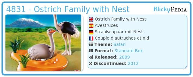 Playmobil 4831 Straussenpaar mit Nest Dschungel