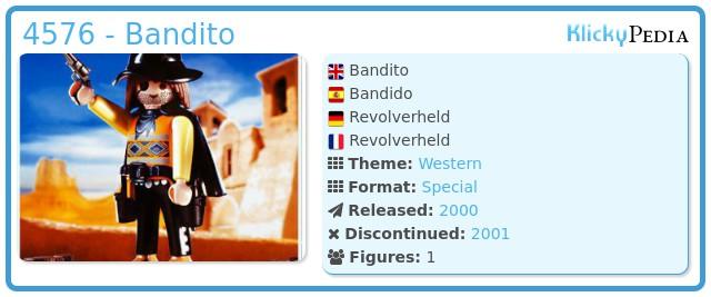 Playmobil 4576 - Bandito