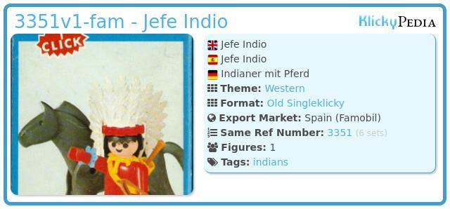 Playmobil 3351v1-fam - Jefe Indio
