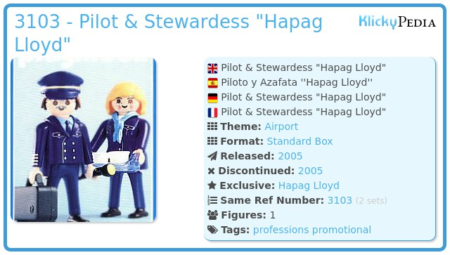 Playmobil 3103 - Pilot & Stewardess